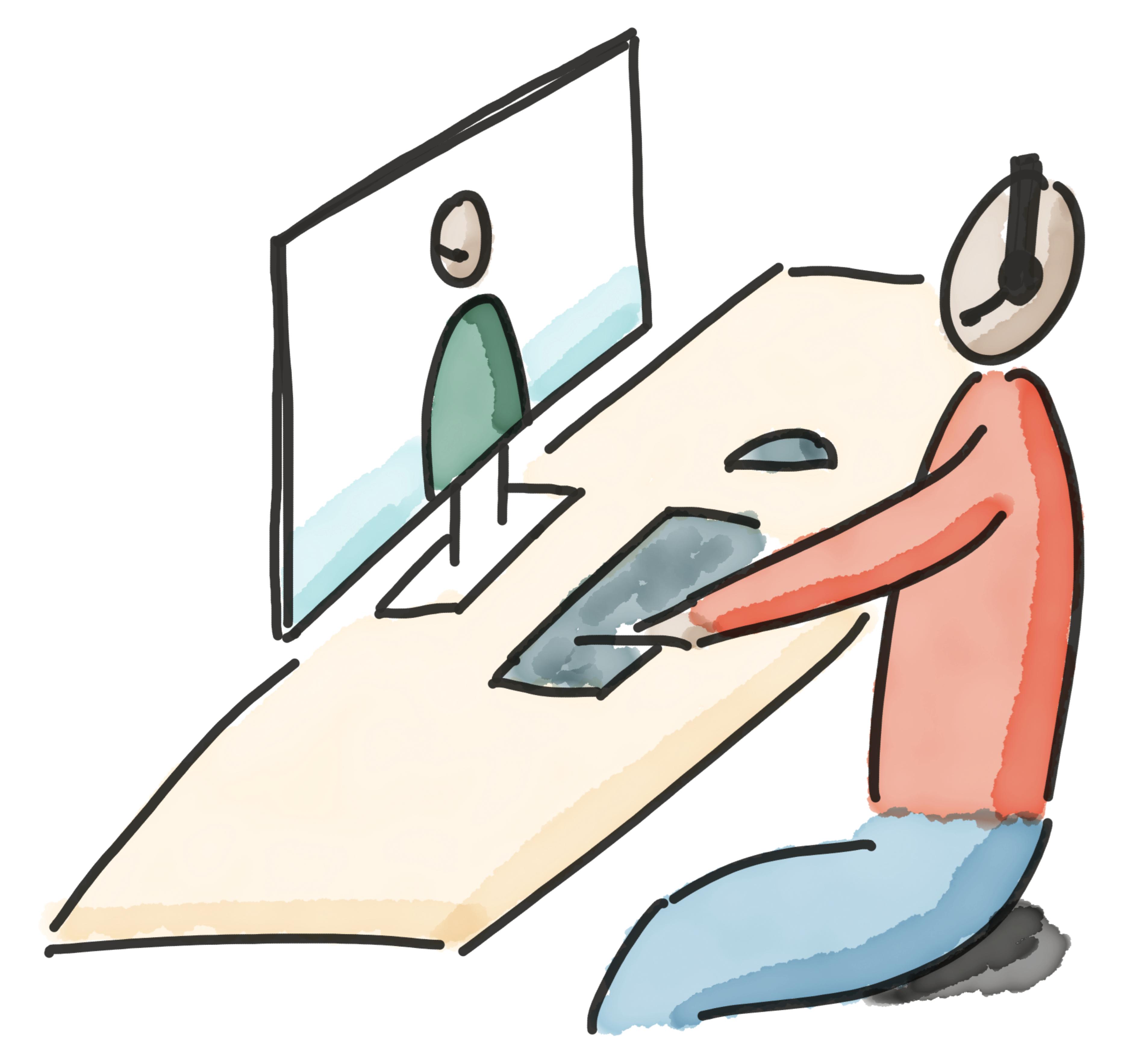 Studierende online beraten